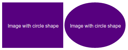 image without and with img-circle